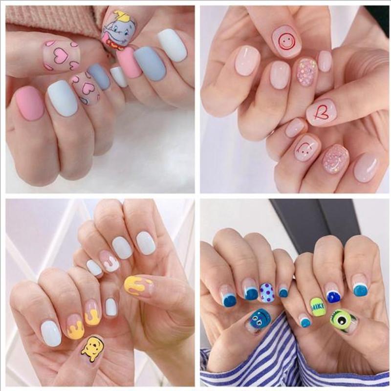 Autocollants pour les ongles manucure Cartoon autocollants nail art autocollants Ruban adhésif Nail Patch Stickers décoratifs