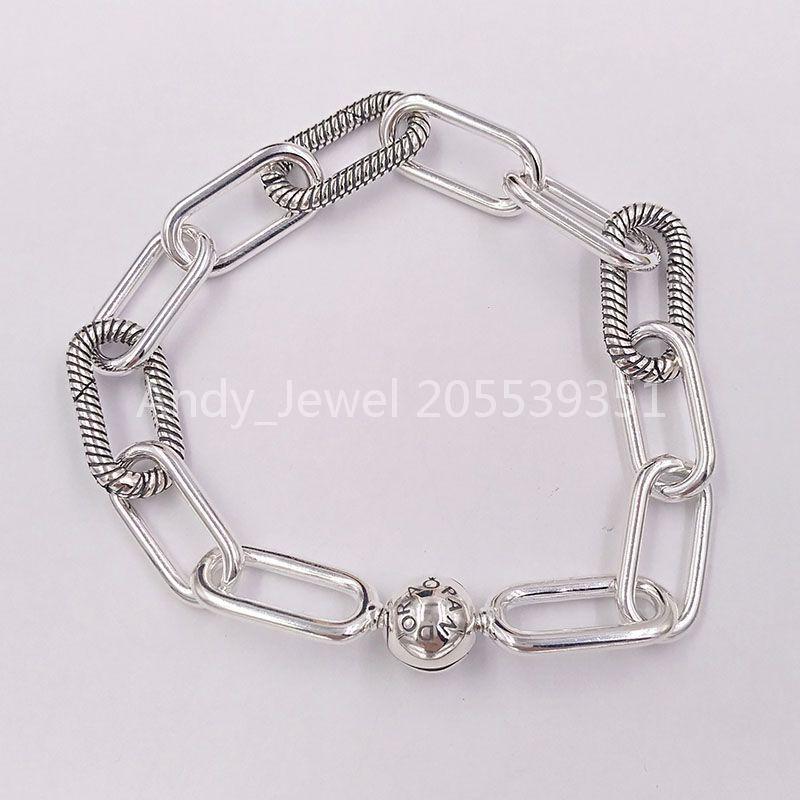 Autentico 925 perline in argento sterling 925 Pandora Me Link Bracelet Charms Adatto a Bracciali europei Bracciali in stile Pandora Collana 598373