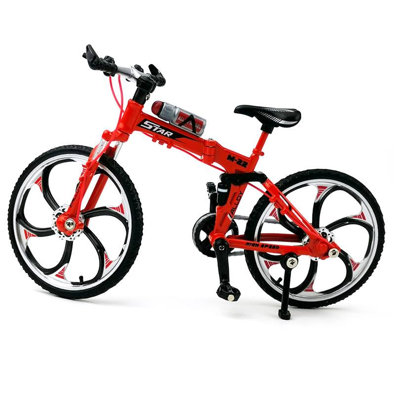 Alloy Mini Bicycle Model 1:10 Folding Mountain Bike Kids Creative Simulation Bicycle Boys Birthday Gifts Metal Collection Gifts 06