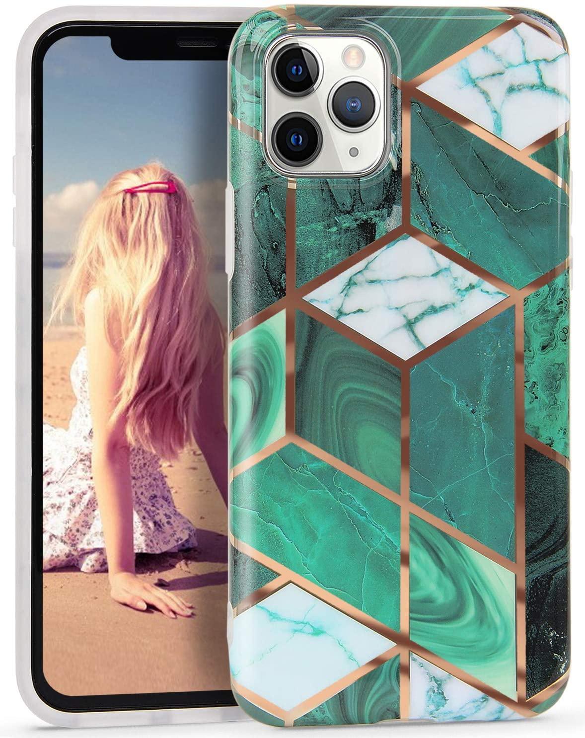 iPhone 11 Pro, Sevimli Parlak Mermer Kılıf Yumuşak TPU Silikon Esnek İnce Darbeye Koruyucu Kılıf iPhone 11 pro 5.8 inç için