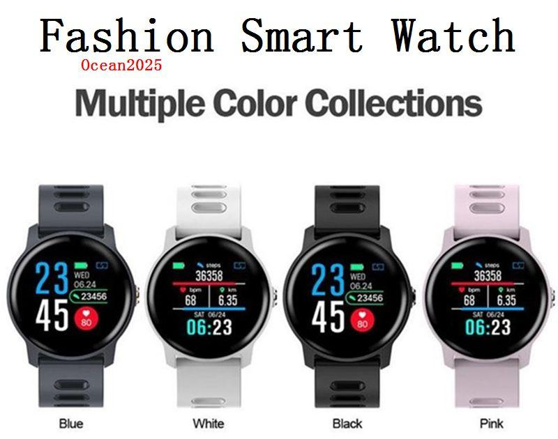 Мода Смарт Часы IP68 водонепроницаемый Heart Rate Monitor Bluetooth SmartWatch активность Фитнес-Tracker диапазона с розничной коробки
