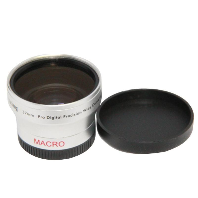 Portable Camera/Camcorder Wide Angle Lens Conversion Lens 37mm 0.45x Telephoto for Camcorder 37mm with Soft Bag