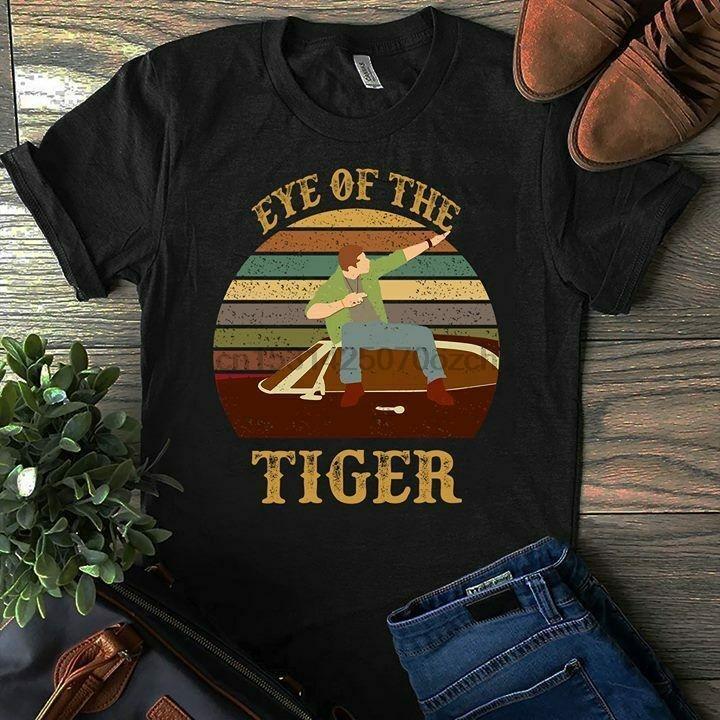 Supernatural Dean ojo de Negro T camisa de los hombres de la vendimia del tigre de algodón S 4xl