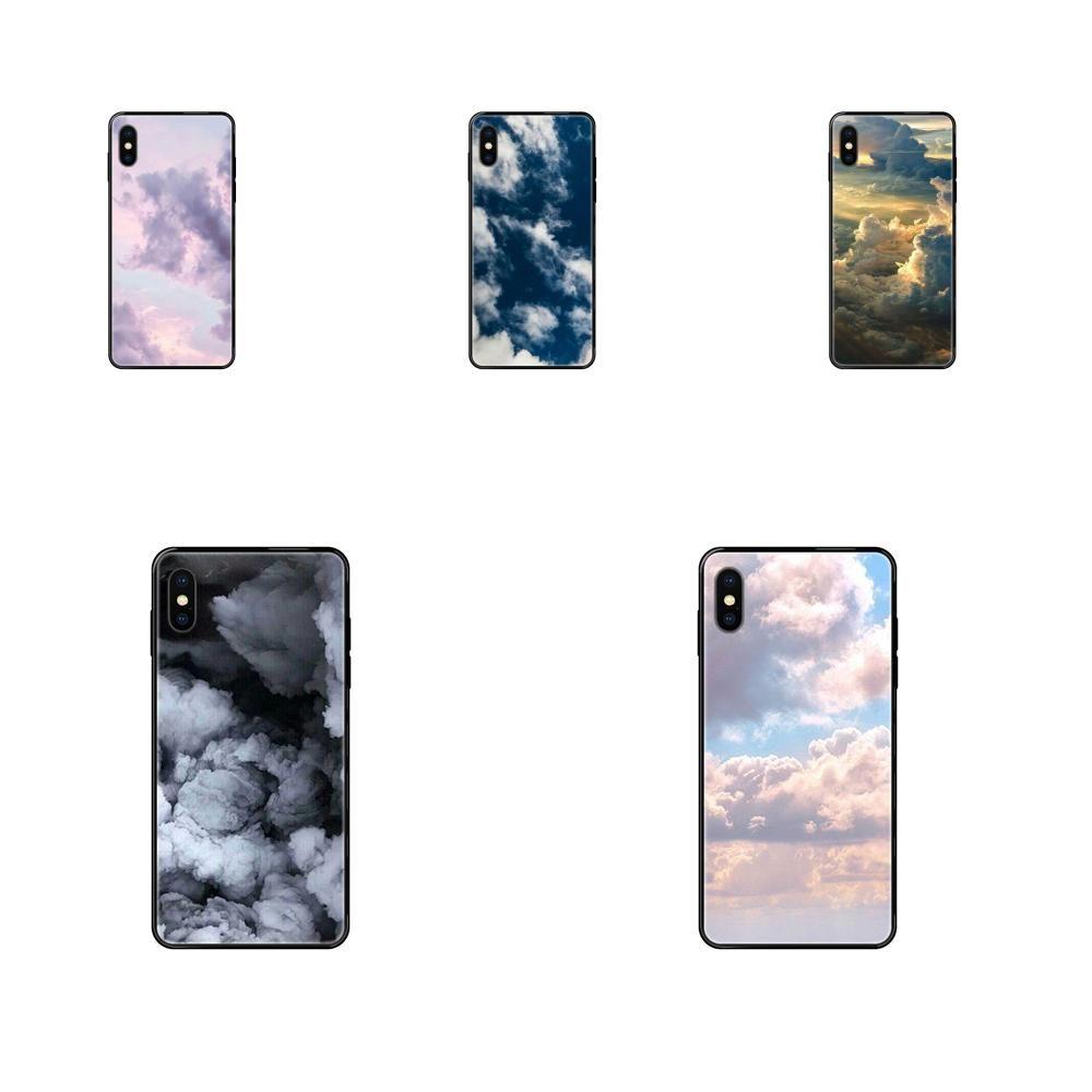 Pour Apple iPhone 5 5C SE SE2020 6 5S 6S 7 8 11 12 Plus Pro X XS Max XR Nuage Ultra Motif Cartoon mince