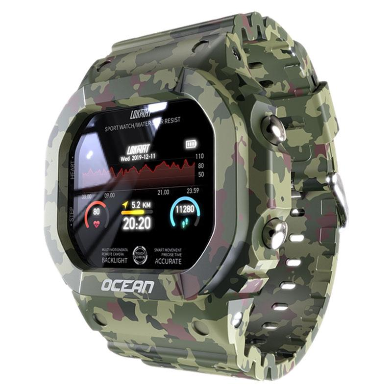 New Ocean Smart Watch 2020 Sport IP68 wasserdichte Bluetooth Nachricht Push-Puls-Monitor Smartwatch Männer Frauen für Android Ios