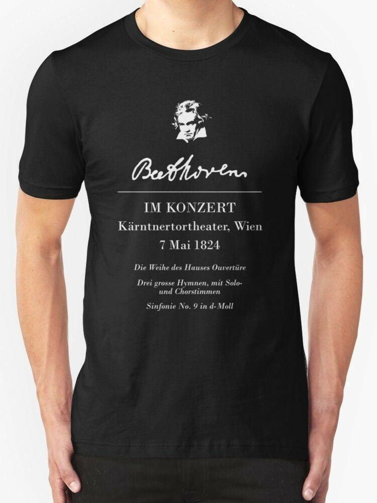 2019 New Estate Beethoven Im Konzert uomini della T-shirt Size S-3XL Tees