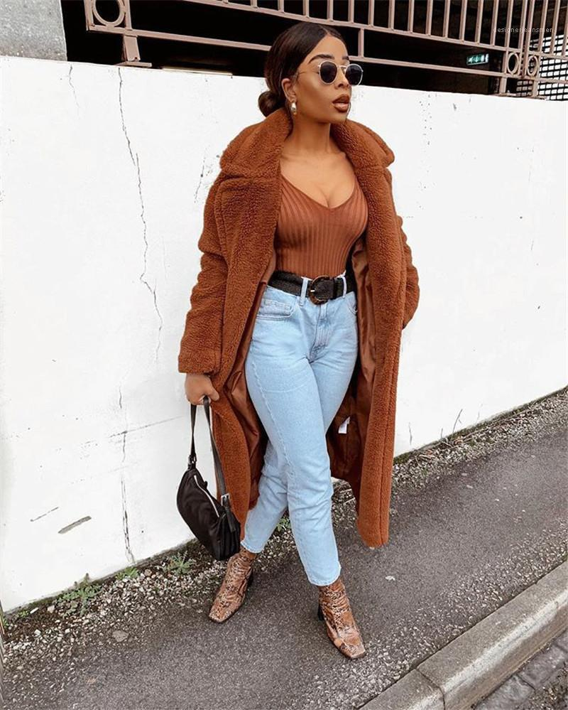 Oversize Thick Warm Cardigan Coats Casual Long Sleeve Winter Jacket Designer Womens Solid Winter Coats Fashion
