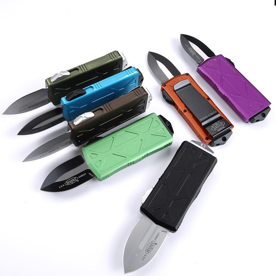 mini-Dinheiro knif facas automáticas Benchmade faca T6061 alça CNC VG10 bolso OUT faca de aço BM3300 Camping tática de sobrevivência Faca de caça