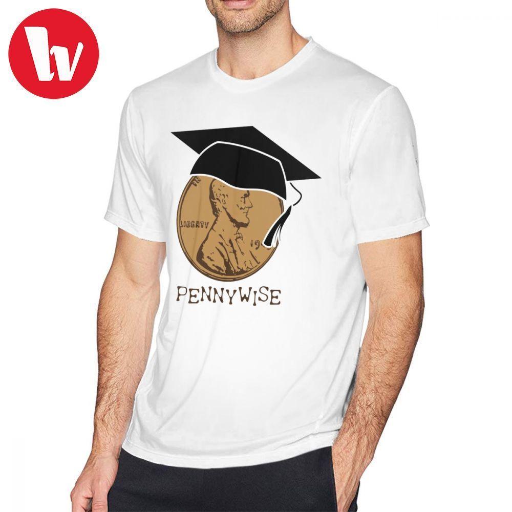 Pennywise Футболка Pennywise Футболка хлопок Graphic Tee Shirt Классический Мужчины с коротким рукавом Смешные 5x Tshirt