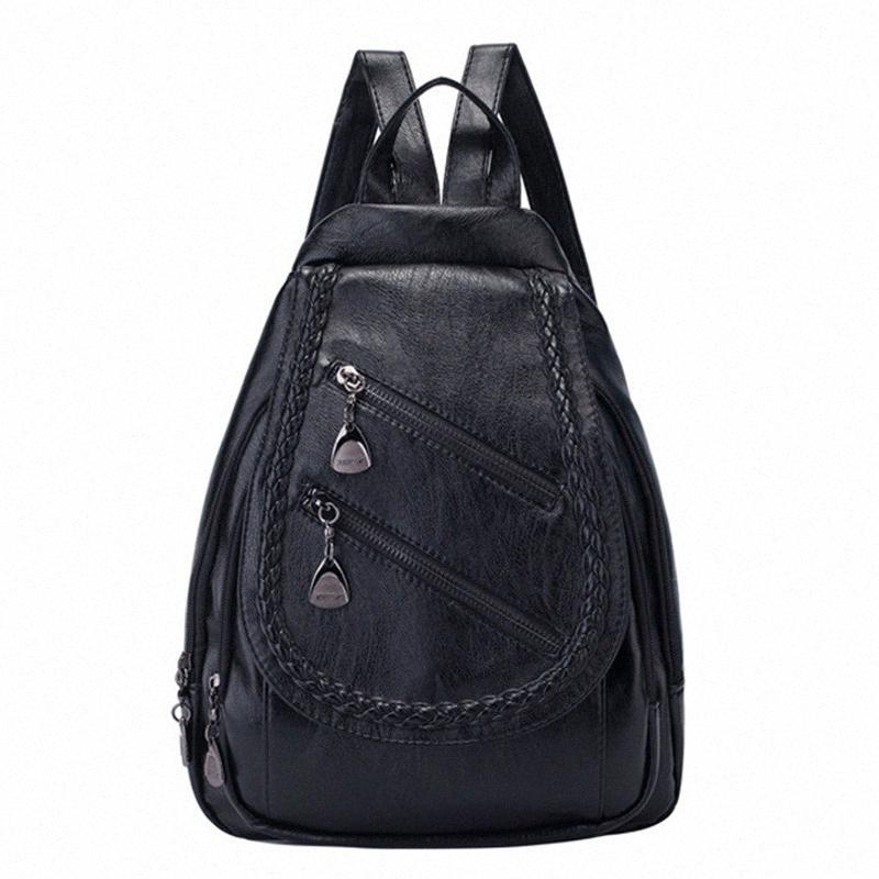 Selvaggio Lady FGGS-Fashion Tracolla grande capacità Casual Personalità Bag Small Backpack Fresh LxiZ #