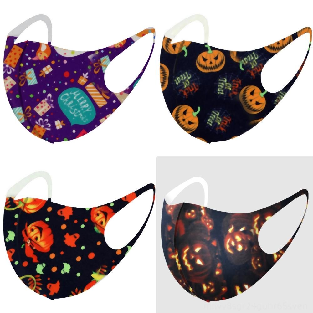 xSwZG STOCK Halloween coton FiltersPainting citrouille Grimace Parti anti-poussière masque facial Designer masksPM carbone lavable Masque adulte enfants