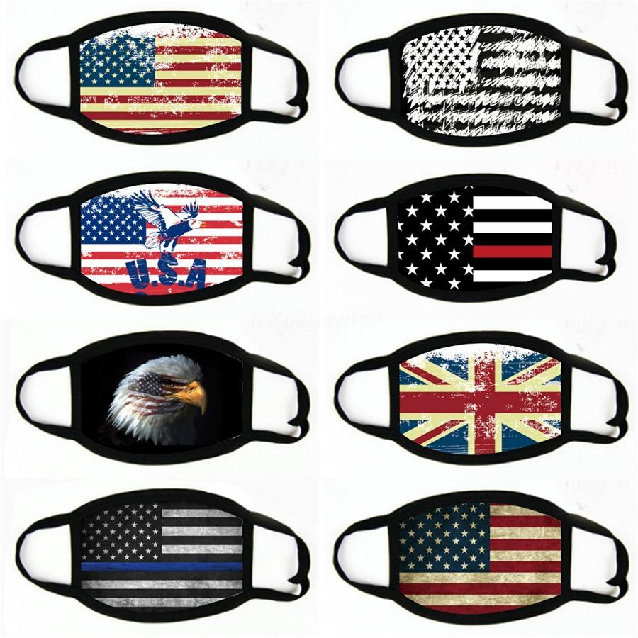 Moda de la mascarilla Nacional Prueba bandera del sol, a prueba de polvo respirable estereoscópica WashableFace máscara # 674