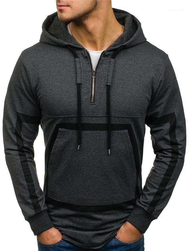 Suelta Hip pop de la informal suéter Ropa para hombre otoño diseñador sudaderas sólido de la manera Impreso para hombre sudaderas