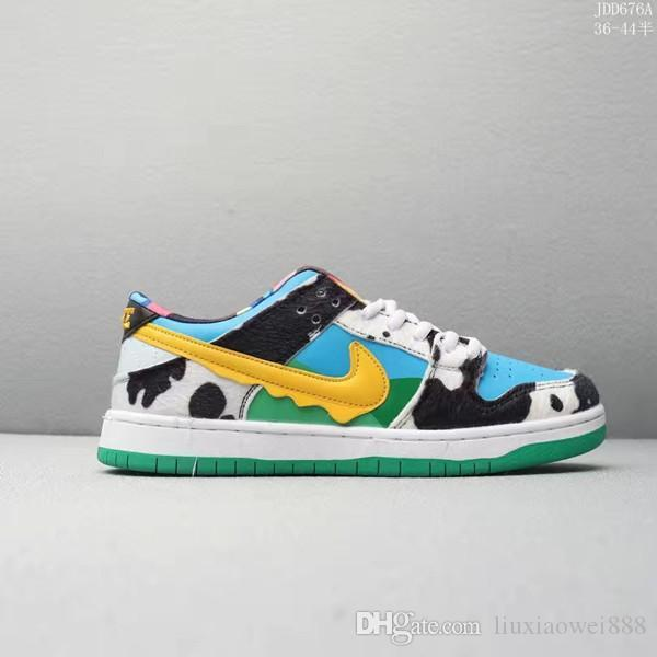 2020 New arrival Mens and Womens Chunky Dunky Sneakers Low Skateboard Civilist SB Running Shoes Milk ice cream SB22 02