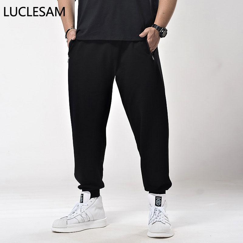 Casual Jogger Hosen für Männer hohe Taillen-feste Knöcheljogginghose Elastic Plus Size 7XL Herren Hosen Kordelzug Fitness Pant Spodnie