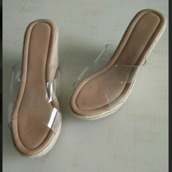 Size 31 To 43 Sandals For Women Footwear Summer 9cm High Heels, Transparent Platform Sandals Clear Pvc Shoes 8pwF#