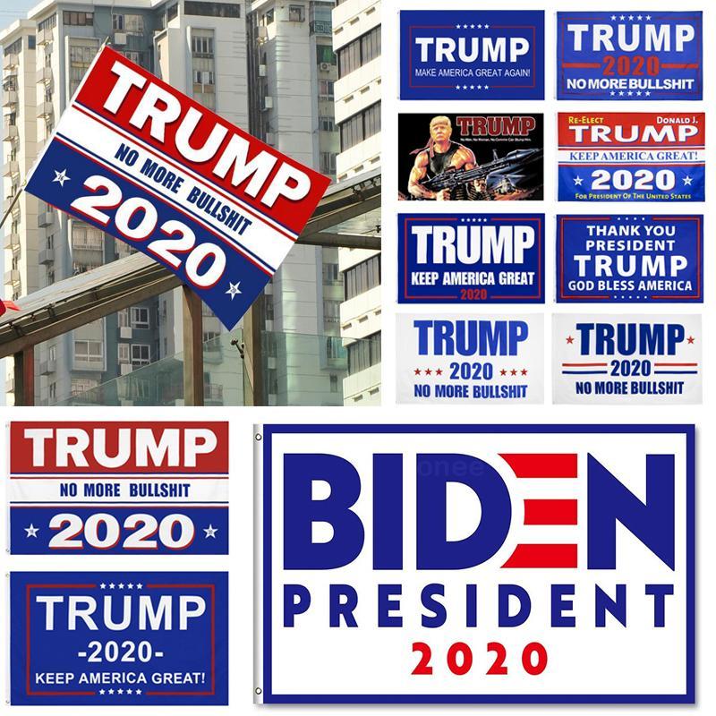 2020 Presidente USA Flag elettorale per Donald Trump BIDEN Bandiera nazionale Keep America grande decorazione Banner 90 * 150cm Hot