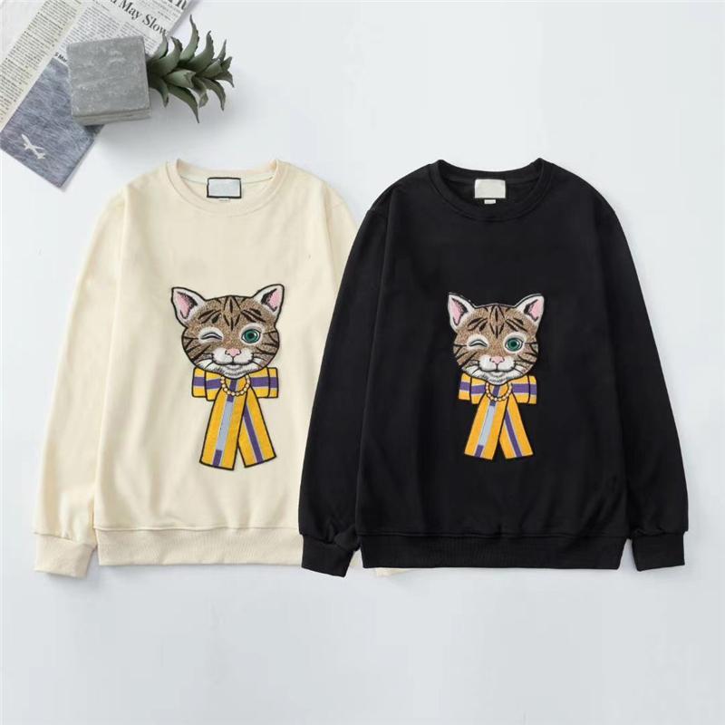 Uomo Felpa Donna DesignerSweatshirts Cat ricamo casual Pullover BrandSweatshirt Mens Hoodie di autunno della molla Outerwears AU 200914V