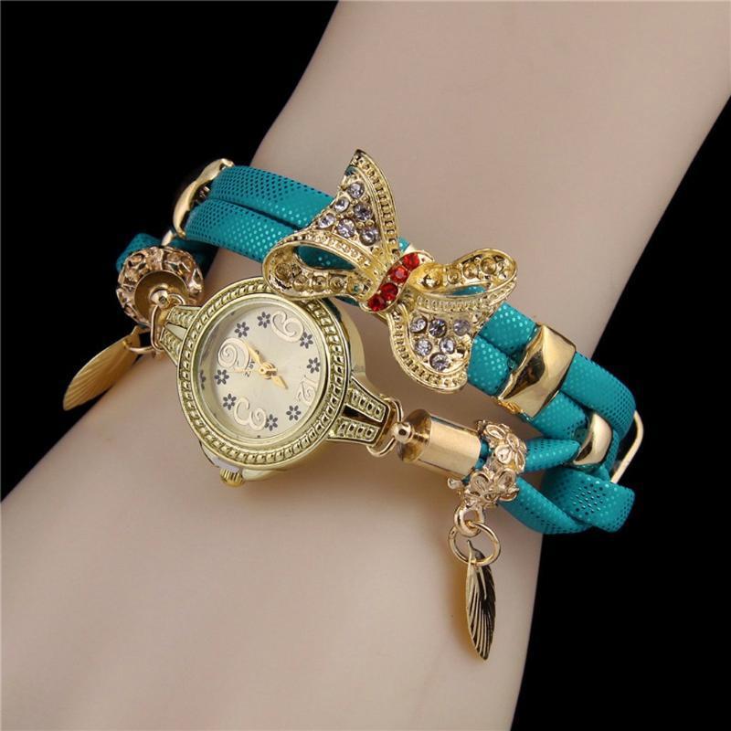 reloj de las mujeres bayan Kol saati relojes de pulsera de cuarzo damas retro de la pulsera del Rhinestone de las mujeres encantadores de la boda relojes de cuarzo W318