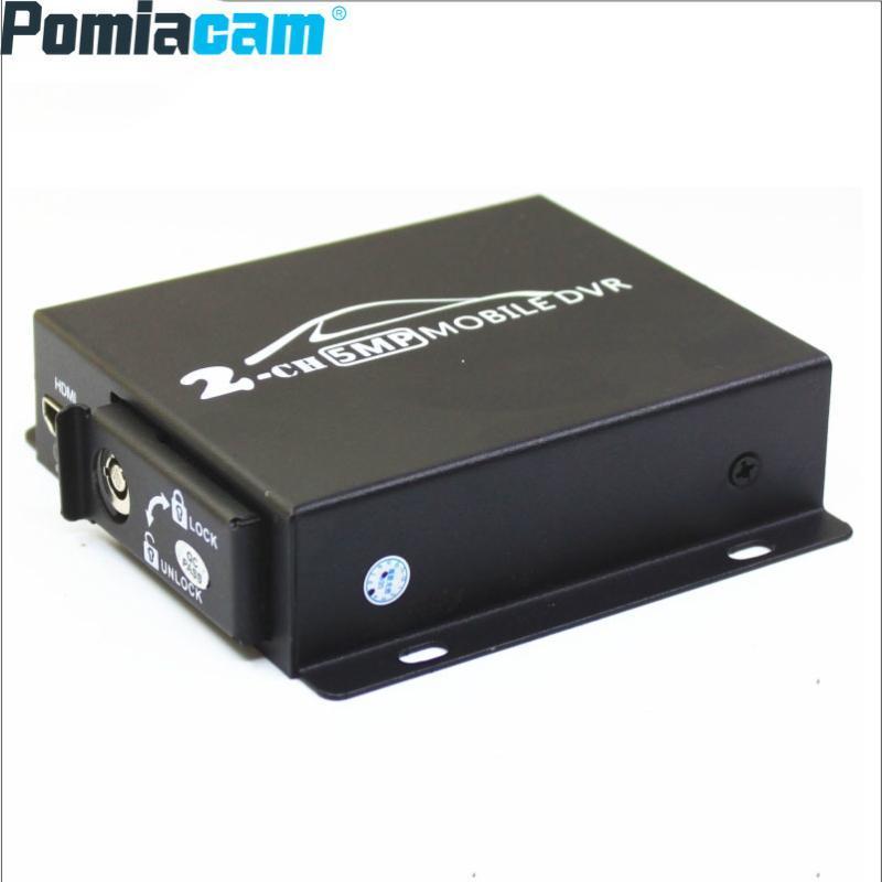Mini DVR mobile 2 canaux voiture DVR mobile 3/4 / 5MP 720 / 1080P AHD 960P CVBS caméras avec fente double carte SD pour Bus Truck Taxi