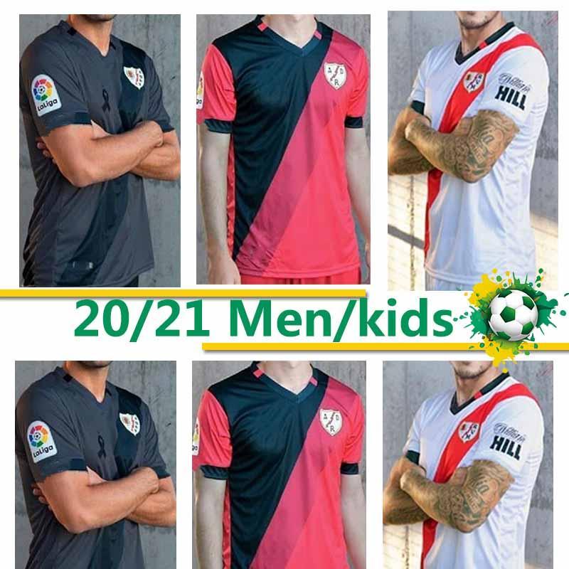 Thaïlande Rayo Vallecano football maillot camiseta de fútbol 20 21 Accueil Vallecas maillot de pied loin Troisième Hommes + enfants Football Jersey 2020 2021