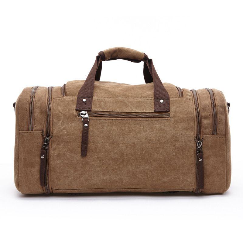 Large Capacity Men Hand Luggage Travel Duffle Bags Canvas Travel Bags Weekend Shoulder Bags Multifunctional Overnight Duffel Bag 200921