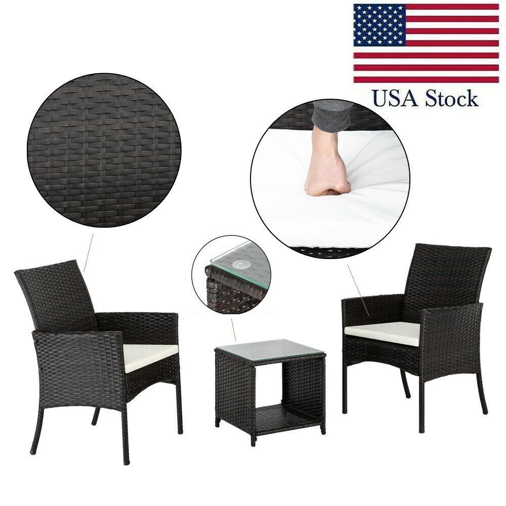 쿠션 테이블 정원 뒤뜰 소파 좌석 + 3 1 브라운 등나무 직조 의자
