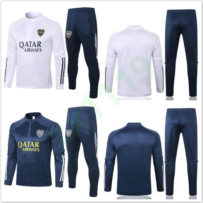Calcio 20 21 Boca Juniors maniche lunghe da uomo tuta TUTA manicotto pieno Football Training Suit 2020 2021 Boca felpa e pantaloni set