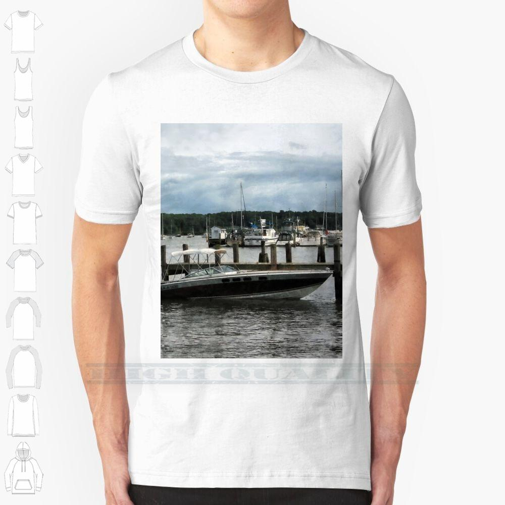 Essex Ct - Stormy Day At The Harbour Custom Design stampa per gli uomini delle donne in cotone fresco nuovo T della maglietta grande formato 6XL