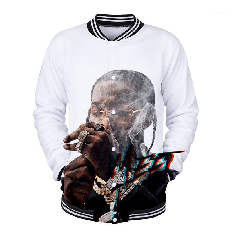 Erkek 3D Baskılı Rap Tek Breasted Coats Spor Casual Ceket R.İ.P Hiphop Rapçi Ceketler