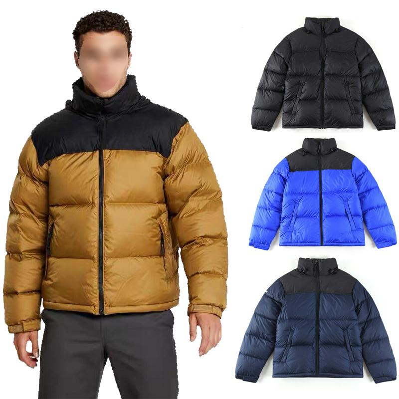 Los hombres de invierno por la chaqueta a prueba de viento Outdoorwear caliente clásico collar de soporte de la capa zippé pato blanco abajo del soporte parka collar rman