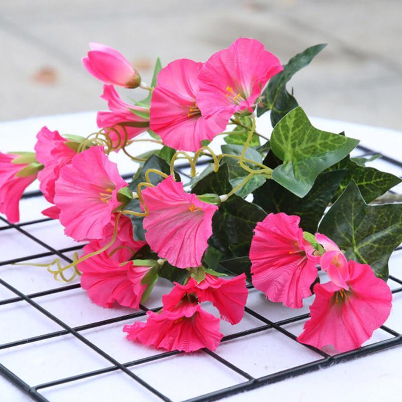 Декоративные цветы венки искусственные утренние слава наживительно виноградные украшения садовые шелковые ткани