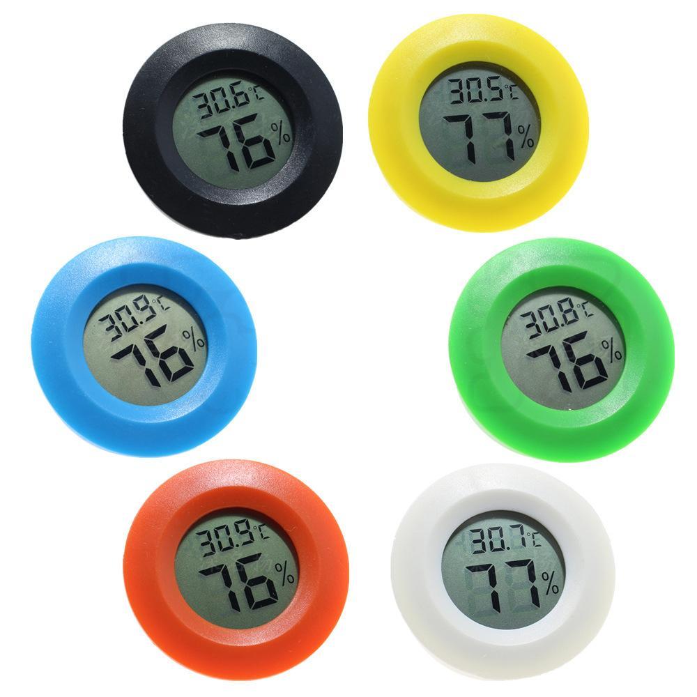 مصغرة ميزان الحرارة رطوبة المحمولة LCD ميزان الحرارة الرقمي الثلاجة تستر فريزر درجة الحرارة الرطوبة متر مراقب الكاشف ث-00216