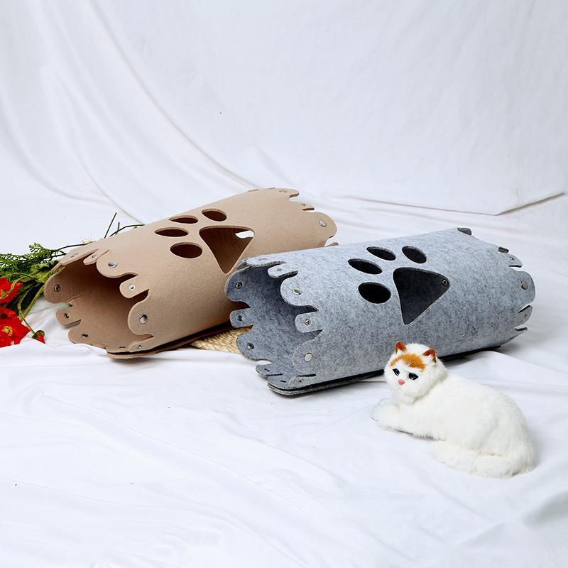 Originale Bed domestico di disegno di nuovo stile feltro tessuto sfoderabile e lavabile del cane del gatto del Tunnel Nest Pet Supplies