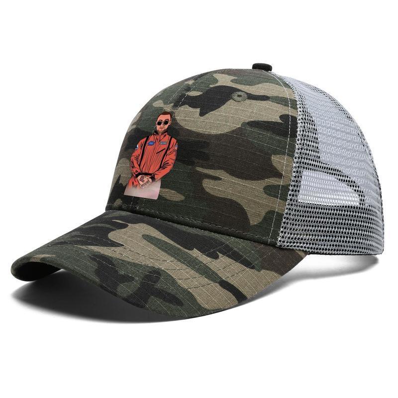 Mens Women Spaceman Mac Miller Adjustable Trucker Cap Cricket Designer Blank Fashion Baseball Hat XXI Pro-Grams But-Tons The Divine RIP