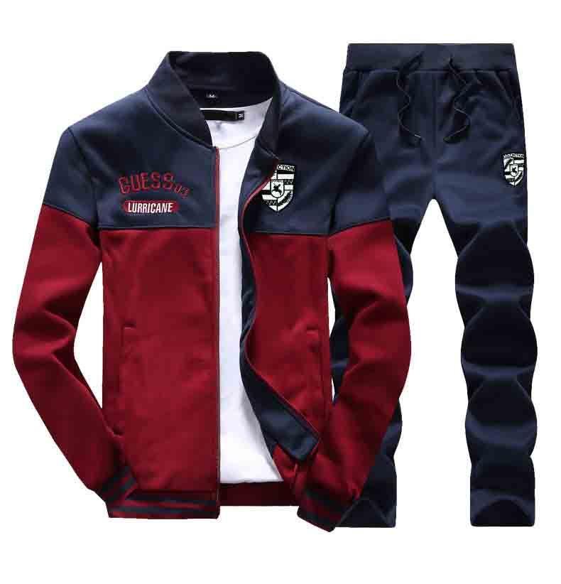 Hot Moda homens correndo Sets 2 Pieces respirável Esporte Suits Tracksuits Masculino Gym Sportwear Hip Hop hoodies camisolas