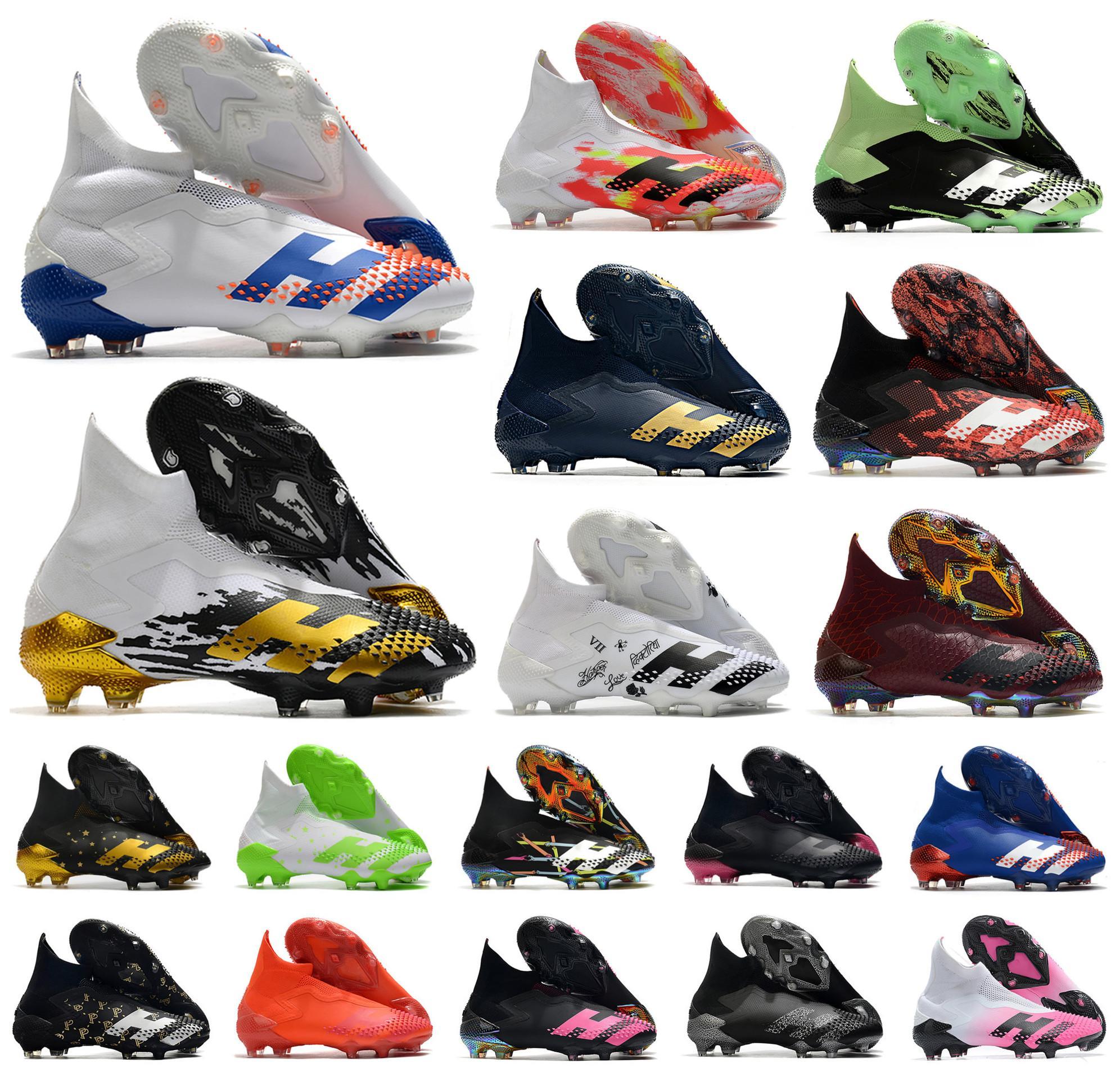 2020 Predator mutateur 20+ FG InFlight SKY TEINTE PP Paul Pogba Garçons Hommes Slip-On chaussures de soccer de football 20 + x Bottes Crampons Haute Taille 39-45