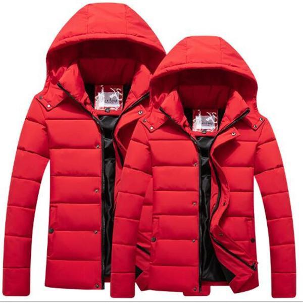 Autunno inverno nuovo cappotto in cotone rivestimento degli uomini di stile di giovani giacche spessa imbottitura cappotto famiglia di modo Parkas