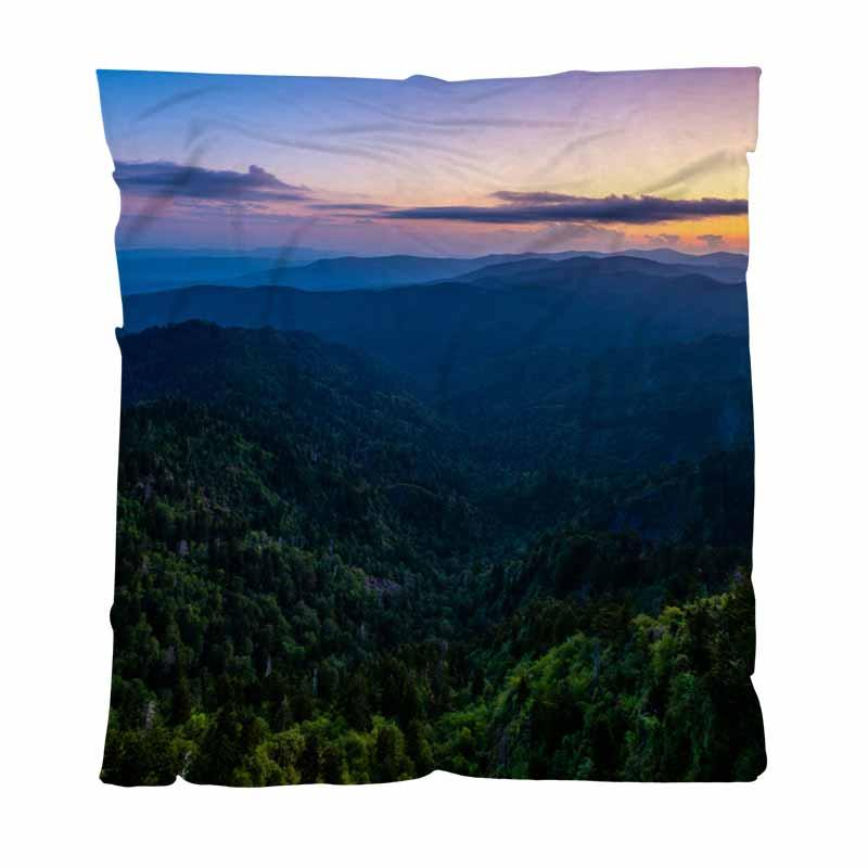Inizio Camera Luxury Bed Blanket, il salto fuori Alba Stile Panoramica, tiro coperta morbida microfibra morbido letto Coperta