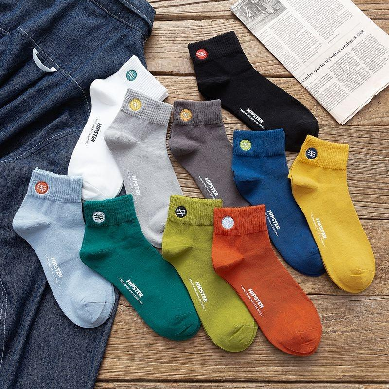 W98u1 Autumn and winter sports embroidery hot Stockings stamping trend men's cotton combed socks cotton mid-calf men's socks ZQNuB