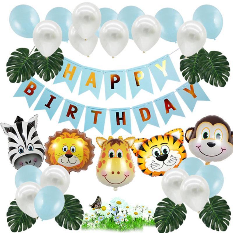 Decoración 2020 Parte fije globo de cumpleaños de los nuevos niños grueso cromo metálico Colores inflable bolas de aire del globo del cumpleaños / partido de la historieta