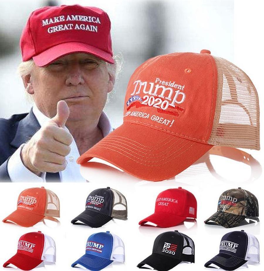 Trump Hat Keep America Великое Письмо Вышитый Омываются Ткань Болл Cap Открытое Путешествие Трамп 2020 Президент Бейсболка партии шляпы FY6062