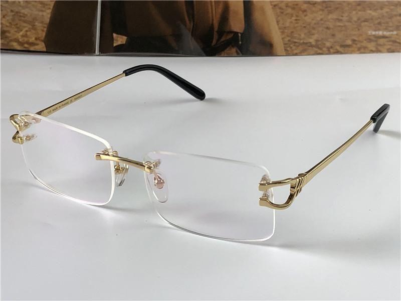 Homens Clássicos Estilo de Negócios Óculos Pequenos Quadrados Sem Frameless Óculos Ópticos Ultra-Luz Top Quality Clear Lens Óculos 3643651