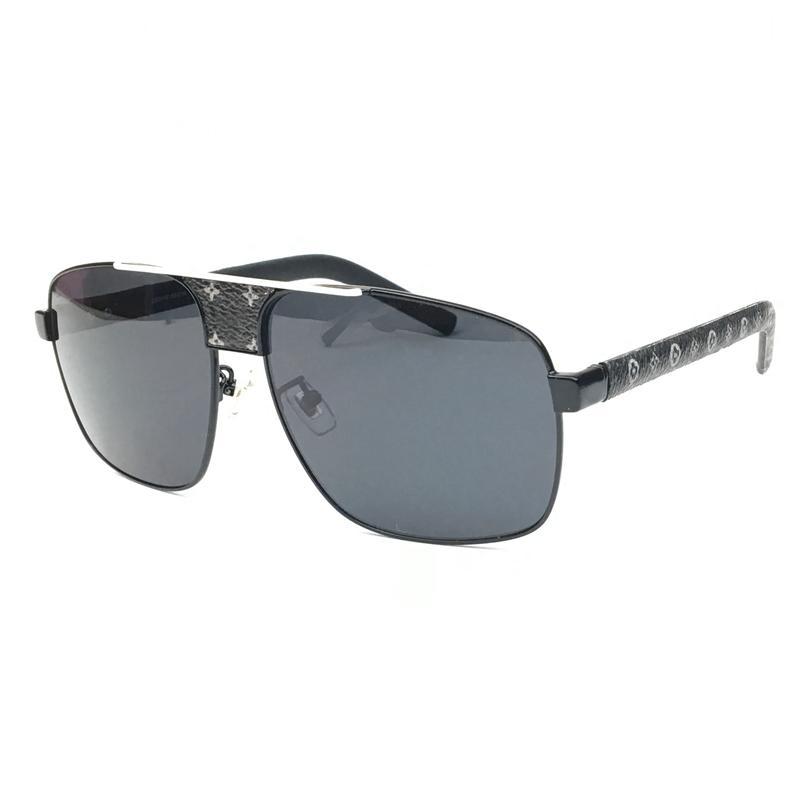 Nova 2020 óculos de sol do Unissex Mulheres Z2341E Z2339E de metal Praça Grande frame de alta qualidade selvagem Moda Masculina Óculos / prata preta