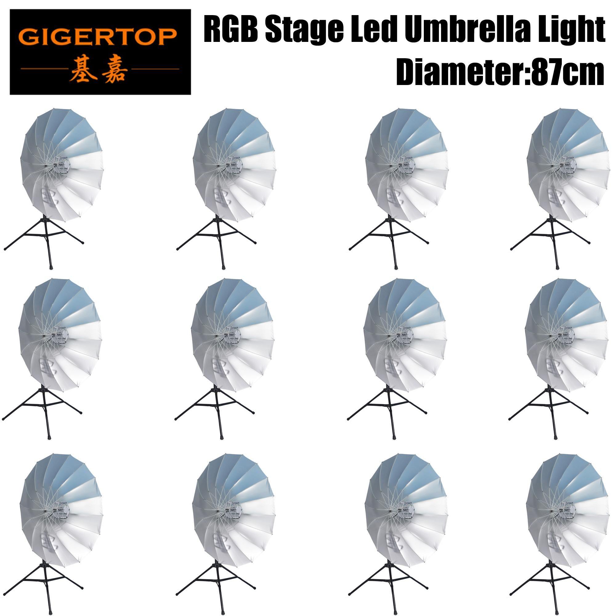 Cgjxs Tiptop 12 unidades 20inch Rgb 3in1 dança LED Show guarda-chuva colorido luminescência Use Prop Luz Stage como presentes Favolook Costume Accessori