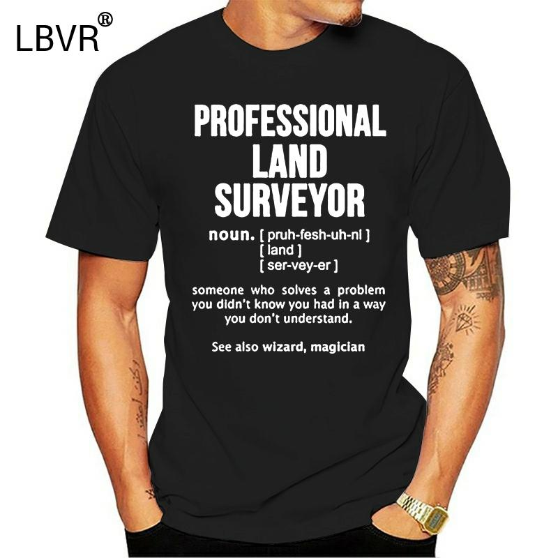 Uomini divertente maglietta di modo maglietta TERRA PROFESSIONAL SURVEYOR NOUN Donne tshirt