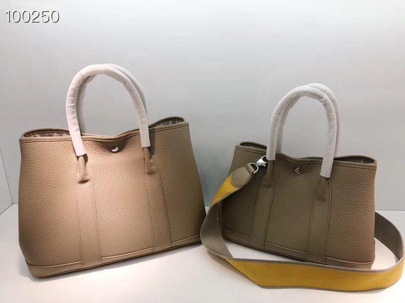 marque de style original 20SS nouveau parti Jardin vachette de haute qualité 30 maman sac à main d'épaule de sac de jardin en cuir mat sac femme