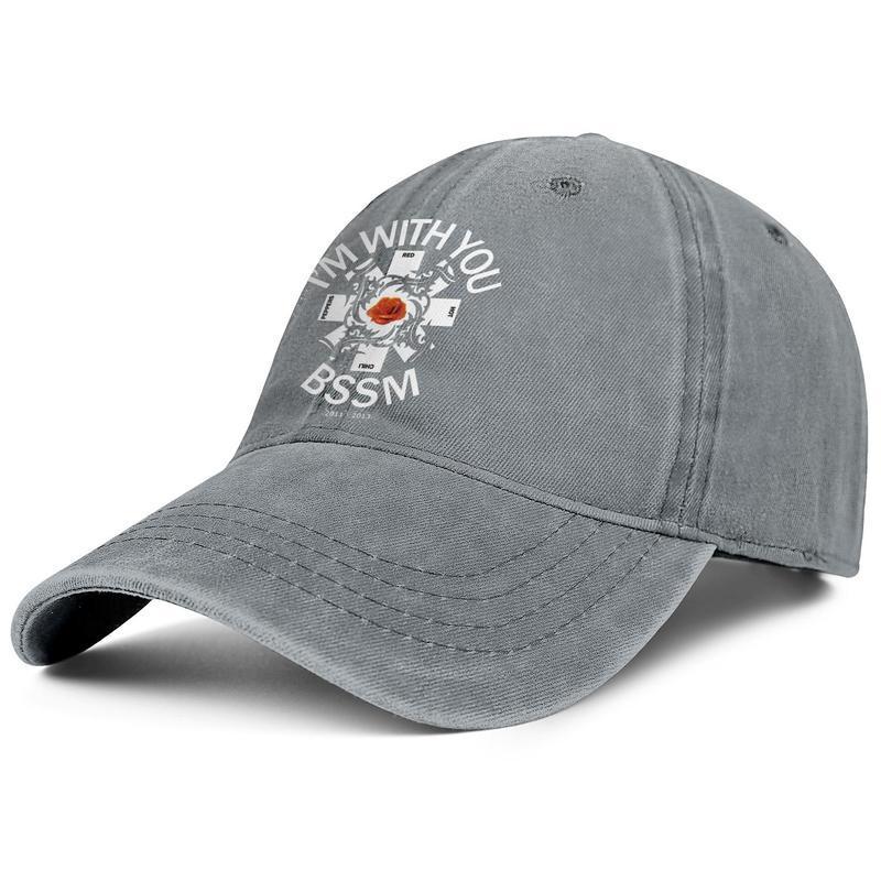 Homens Mulheres RHCP Red Hot Chili Peppers legal logotipo Boné de beisebol Moda Denim Refrigere Lavados Dad Hat bola ajustável Vintage