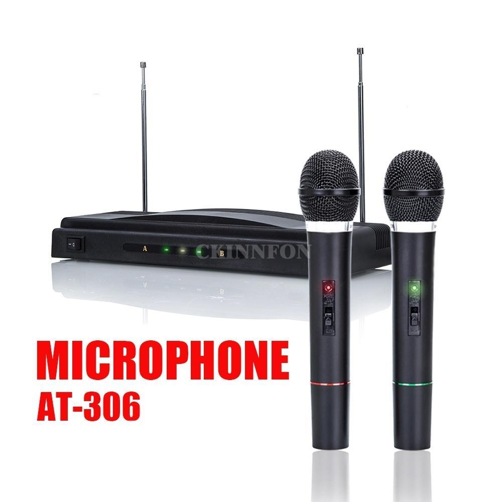 20set Pro Беспроводной микрофонной система двойной Handheld 2x Mic Беспроводный приемник (батареи не включены)
