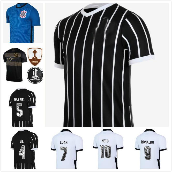 man kids kit 2021 Corinthians soccer jerseys 2020 2021 Corinthian camisetas home away GIL RONALDO LUAN FAGNER PEDRINHO NETO FOOTBALL SHIRT